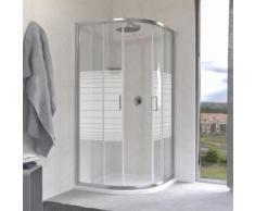 Box doccia semicircolare due porte scorrevoli cristallo 6 mm serigrafato 90x90 cm