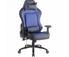 Sedia Gaming Rapid XM Massaggiante In Similpelle Nero/blu