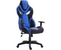 Sedia ufficio racing Fangio in tessuto Nero/blu