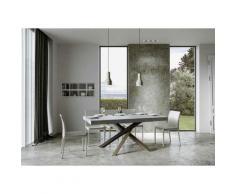 Itamoby S.r.l. - Tavolo Volantis Allungabile piano Cemento 90x160 allungato 420 telaio 4/C colori