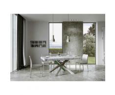Itamoby S.r.l. - Tavolo Volantis Allungabile piano Marmo 90x160 allungato 420 telaio 4/A colori