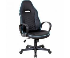 Vinsetto Sedia da Ufficio e Gaming con Rivestimento in Pelle PU Premium Design Ergonomico Nera e Blu