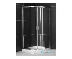 Box doccia semicircolare 90x90 cm scorrevole trasparente 6 mm serie x