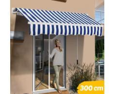 Tenda Sole Balcone a Bracci Estensibili Parasole Avvolgibile Esterno 300x200 Blu