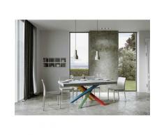 Itamoby S.r.l. - Tavolo Volantis Allungabile piano Cemento 90x180 allungato 284 telaio 4/B colori