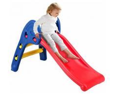 Costway - Scivolo Stabile Pieghevole per Bambini, da Interno ed Esterno, eta Consigliata 3-6 Anni