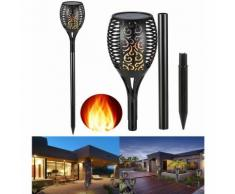 Torcia solare 96 led fiamma lampada solare esterno impermeabile giardino sl-306