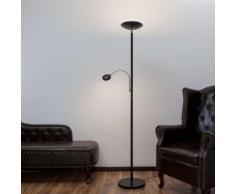 Lampada da terra LED Malea, braccio lettura, nera