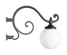 Braccio a muro ferro battuto applique mensola lampione da giardino grigio ghisa
