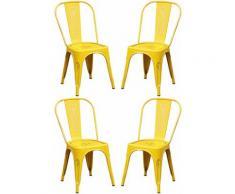 Set Di 4 Sedie In Metallo Di Design Moderno Industrial Vintage Per Sala Da Pranzo Bar Ristorante