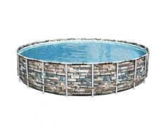Piscina fuori terra Bestway Rotonda 56889 Power Steel 671x132 cm
