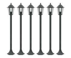 Nova - Lampioni da Giardino in Alluminio 6x colore Verde Scuro Lanterna da Esterno
