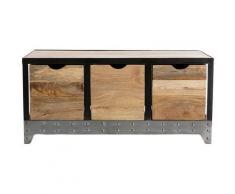 Miliboo - Cassettiera / scarpiera in legno e metallo ATELIER