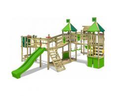 FATMOOSE Parco giochi in legno FunnyFortress Giochi da giardino con altalena TowerSwing e scivolo