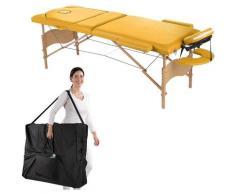Lettino Da Massaggio Mobile A 3 Zone Incl. Divano Tascabile Panca Da Massaggio Pieghevole Giallo