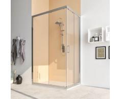 Box doccia 80X140 cabina angolare scorrevole vetro cristallo TRASPARENTE anticalcare 6mm Acacia