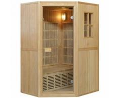 200SC - Sauna Combinata Finlandese/Infrarossi per 2 Persone in Legno Hemlock 6 Irradiatori in