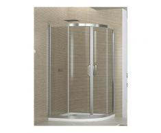 box doccia semicircolare 90x90 cm trasparente altezza 190 cm serie f