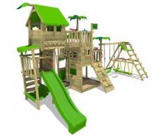 FATMOOSE Parco giochi in legno PacificPearl Giochi da giardino con altalena SurfSwing e scivolo