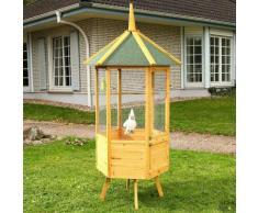 Voliera gabbia recinto in legno per uccelli XXL 98x98x195 cm Milano