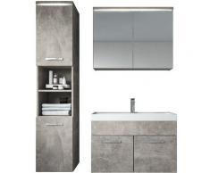 Badplaats - Mobili da bagno Paso 80cm Calcestruzzo - armadio mobiletto lavabo Mobili Armadietto