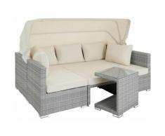 Lounge in rattan San Marino - set da giardino, set giardino, set giardino rattan - grigio chiaro