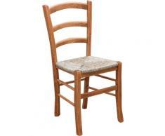 Sedia in Legno Seduta Schienale massello da Cucina Soggiorno Salone Ufficio