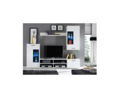 Parete attrezzata multiuso parete da soggiorno con illuminazione led compresa colore principale: