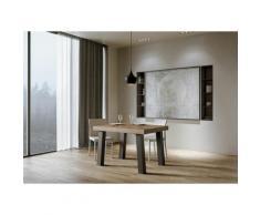 Itamoby S.r.l. - Tavolo Bridge Fix piano Noce 90x130 telaio Antracite