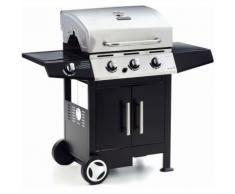 Barbecue Golosone 3 con Fornello e Griglia Bruciatore Acciaio 130x53x105 G45129