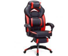 Sedia da Ufficio con Sedile Largo, Altezza Regolabile, Design Ergonomico OBG77BR