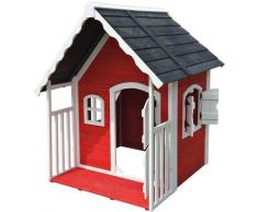 Wiltec - Casa casetta giochi per bambini in legno con veranda Giardino Esterno