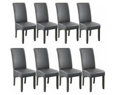 Tectake - 8 sedie da sala da pranzo con seduta ergonomica - sedie moderne, sedie sala da pranzo,