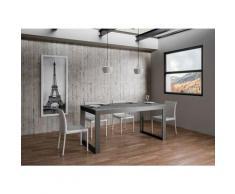 Itamoby S.r.l. - Tavolo Tecno Evolution piano Cemento 90x180 allungato 90x284 telaio Antracite