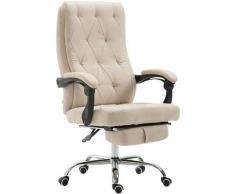 Sedia da ufficio Gear in tessuto Crema