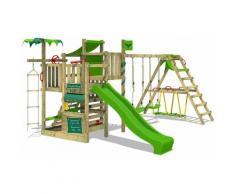 FATMOOSE Parco giochi in legno CrazyCoconut Giochi da giardino con altalena SurfSwing e scivolo