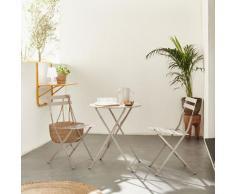 Set da giardino, bar bistro, pieghevole - modello: Emilia, rotondo, colore: Grigio bruno - Tavolo