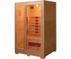 Sauna a Infrarossi in Legno RUBINO per 2 persone 120x100