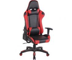 Sedia Gaming Miracle V2 in Similpelle Nero/rosso