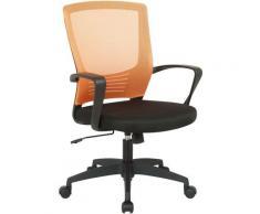 Poltrona Ufficio Kampen In Rete Nero/arancione