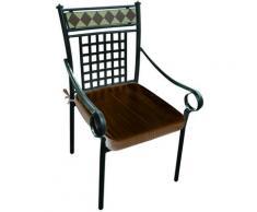 Sedia poltrona stilnovo 2pz con mosaico 57xp60 arredo giardino - Salone Negozio Online