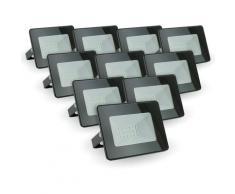Lotto di 10 faretti LED da esterno 10W IP65 | Température de Couleur: Bianco caldo 3000K