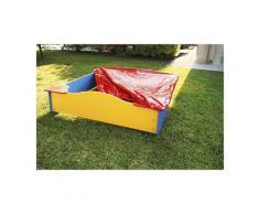 Gbshop - sabbiera in polietilene con copertura in PVC
