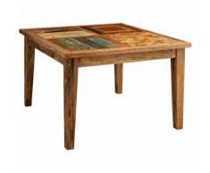 Tavolo massello rettangolare o quadrato Country Shabby da pranzo taverna ufficio riunione fumo