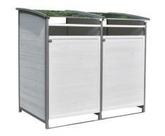 Mucola - Cestino per rifiuti - scatola singola + scatola di fissaggio bianco/grigio