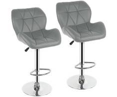 Jeobest - Sgabello da bar con sedile Ben imbottito con schienale ? Altezza regolabile