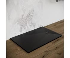 Piatto doccia 70X110 effetto pietra smc resina (no mineralmarmo) NERO spessore 2,6 cm Euclide