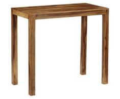 YOUTHUP Tavolino da Bar in Legno Massello di Sheesham 118x60x107 cm - Marrone
