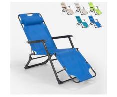 Sedia sdraio per spiaggia e giardino pieghevole multiposizione Emily Lux Zero Gravity | Blu