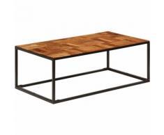 Tavolino da Caff¨¨ 110x40x60 cm Legno Massello di Acacia Acciaio